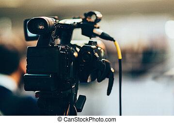 録音, テレビカメラ, 公表, でき事