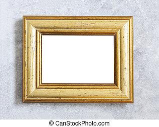 鍍金, 框架, mockup