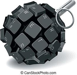 鍵盤, 手榴彈