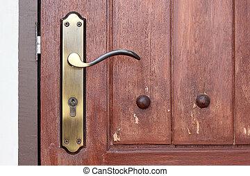 鍵穴, 型, ハンドル, ドア