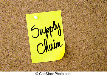 鎖, 供給, 黄色のノート, 書かれた, ペーパー