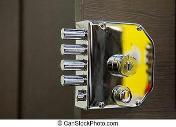 鎖, 安全, 門