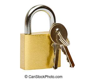 鎖, &, 鑰匙