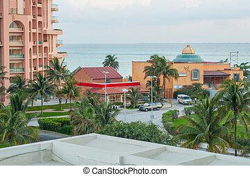 鎮, 射擊, 半島, yucatan, 小, 墨西哥人