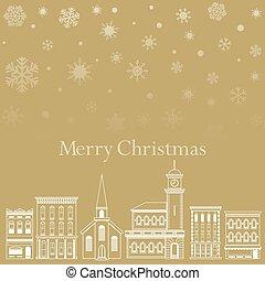 鎮, 聖誕節, 背景, 喜慶
