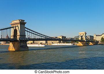 鏈條橋梁, 在, 布達佩斯, 匈牙利