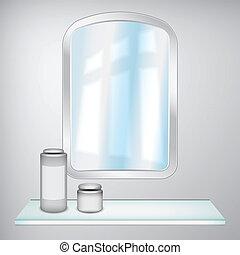 鏡, そして, 化粧品