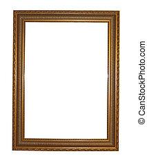 鏡, フレーム, 隔離された, 上に, a, 白い背景