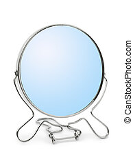 鏡, 中に, 金属, フレーム
