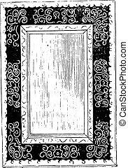 鏡, 彫版, そして, 金, ∥, 統治, の, ルイ, xiii, 型, engraving.