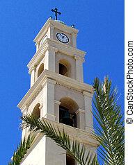鐘楼, 2012, st., 教会, ピーター, jaffa
