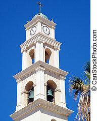 鐘楼, st., 教会, ピーター, jaffa, 2011