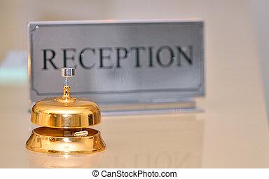 鐘, レセプション, カード, 印