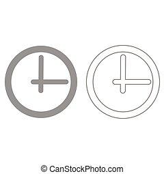 鐘, 它, 是, 黑色, 圖象, .