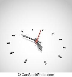 鐘, 摘要, space., 矢量, 背景, 模仿