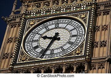 鐘, ......的, 大本鐘, 在, 倫敦, 英國