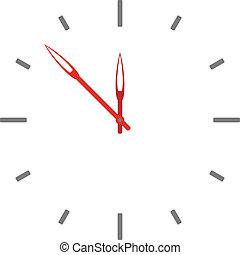 鐘, -, 臉, 矢量, 容易, 時間, 變化