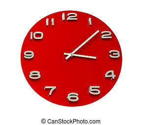 鐘, 被隔离, 紅色, 輪