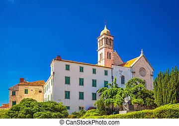 鐘, franciscan, タワー, sibenik., 修道院