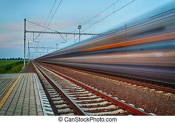 鐵路, 旅行, 以及, 運輸工業, 生意概念