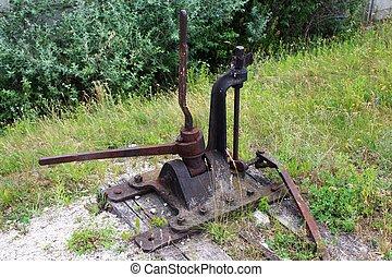 鐵路, 老, 開關, 机械