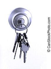 鑰匙, 在, 鎖