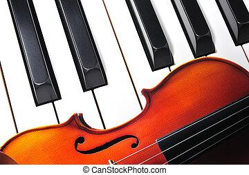鑰匙, 小提琴, 鋼琴