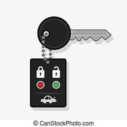 鑰匙, 汽車, 鏈子