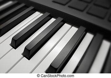 鑰匙, 白色, 黑色的鋼琴, &