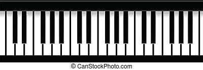 鑰匙, 鋼琴