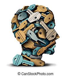 鑰匙, 頭, 概念