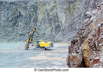 鑽工, 在, a, 采石場, mine., 採礦, industry.