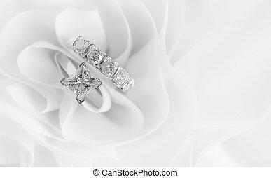 鑽石, 戒指, 婚禮