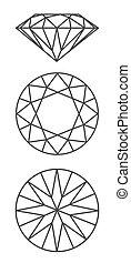 鑽石, 矢量, 圖表, 方案