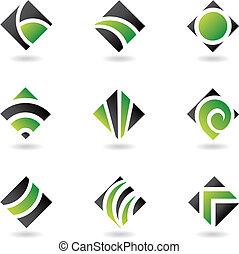 鑽石, 綠色, 圖象