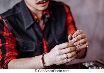 鑽石, 藏品, craftsman's, 手