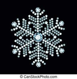 鑽石, 雪花