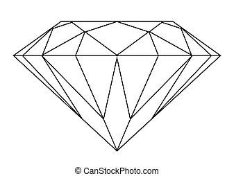 鑽石, outline