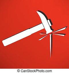 钉子, 锤子图标