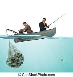 钓鱼, 商业