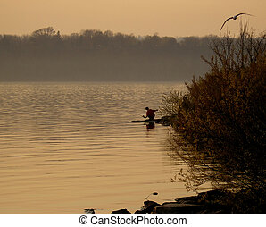钓鱼, 日出