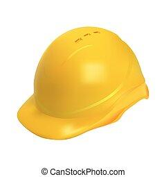 钢盔, 努力, -, 描述, 现实, 安全, 帽子