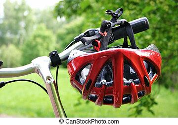钢盔, 自行车