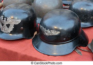 钢盔, italy, 德国的军方, 蚤, 老, 市场
