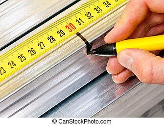 钢铁, 大头钉, 测量