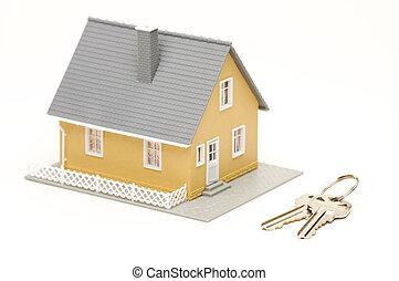 钥匙, &, 房子