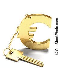 钥匙, 欧元