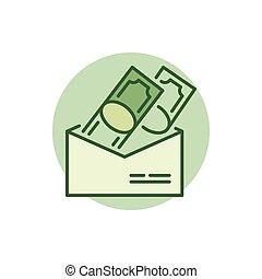 钱信封, 色彩丰富, 图标