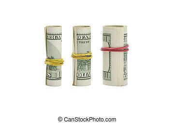 钱, 白色, 增长, 卷