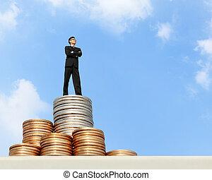 钱, 站, 企业家
